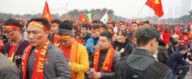 Hà Nội huy động hàng nghìn cảnh sát giữ trật tự cho trận chung kết
