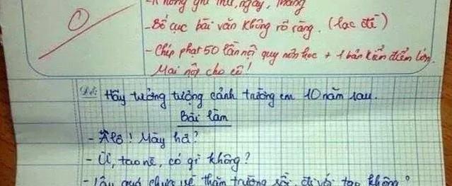 Hài hước những câu trả lời bá đạo của học sinh trong bài kiểm tra