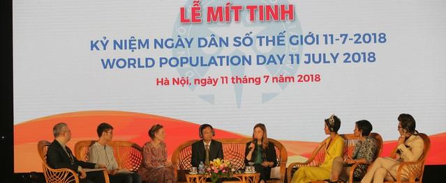 Mít tinh kỷ niệm Ngày dân số thế giới 2018: Tăng cường mọi nguồn lực xã hội, triển khai toàn diện công tác dân số
