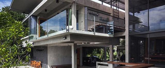 Ngôi nhà cho hai thế hệ có kiến trúc đẹp như resort