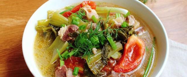 Gân bò hầm dưa cải chua ngọt ngon miệng, đưa cơm