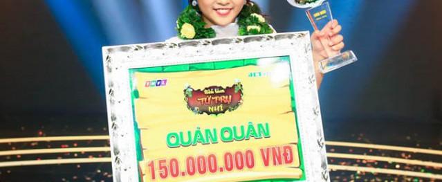 """Cô bé 11 tuổi đăng quang """"Tiếu lâm tứ trụ nhí"""", nhận 150 triệu đồng"""
