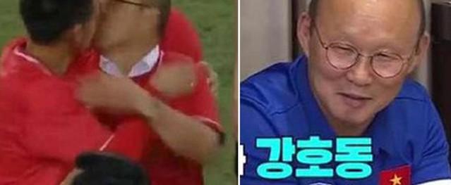 HLV Park Hang-seo nói về 'nụ hôn tình cờ' với Văn Quyết trên truyền hình Hàn
