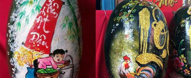 Lo quà tặng mẹ vợ, chàng trai nổi hứng vẽ 3.000 tranh thư pháp dưa hấu