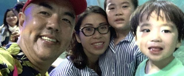 Gia đình hạnh phúc của nghệ sĩ Quốc Thuận