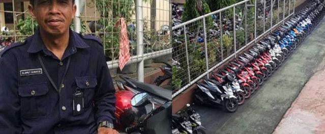 Bảo vệ trường học ở Indonesia được ca ngợi khi xếp xe theo màu sắc