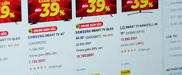 Tivi hạng sang màn hình rộng giảm giá mạnh chưa từng có
