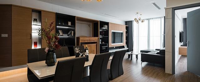 Căn hộ 120 m2 sang trọng với 400 triệu thiết kế lại