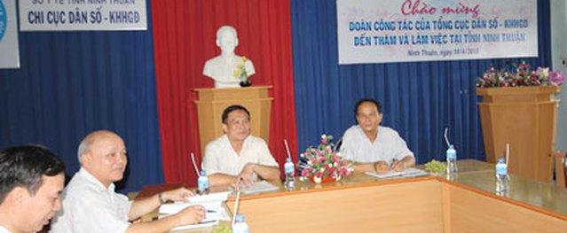 Phó Tổng cục trưởng Hồ Chí Hùng: Ninh Thuận cần sớm đạt mức sinh thay thế