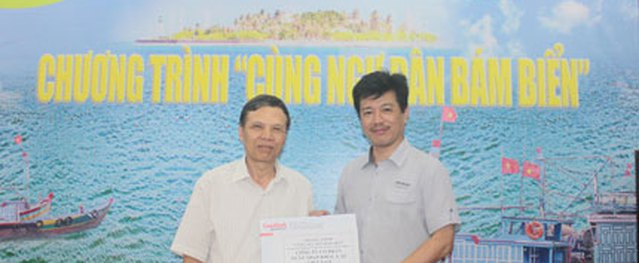 """Thêm tổ chức và cá nhân ủng hộ chương trình """"Cùng ngư dân bám biển"""""""