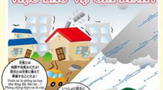 Nhật in sách phòng chống thiên tai cho trẻ em Việt Nam