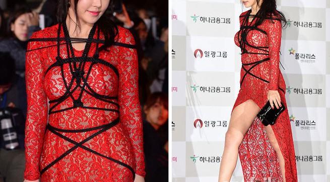 Bất ngờ với thời trang dây thừng quấn quanh người của mỹ nhân Hàn