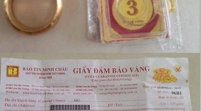 """Bảo Tín Minh Châu bị """"kiện"""" vì bán vàng giả?"""