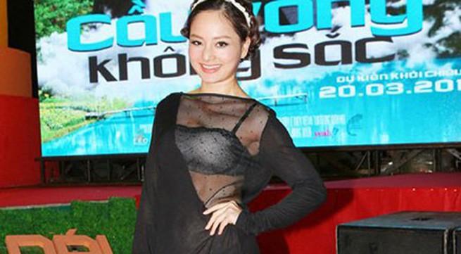 Đỏ mặt với bộ trang phục xuyên thấu của Lan Phương