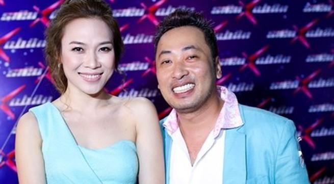 Mỹ Tâm và đạo diễn Nguyễn Quang Dũng mặc đồ ton sur ton