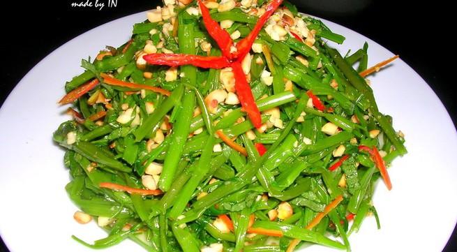 3 món ăn giảm cân từ rau muống