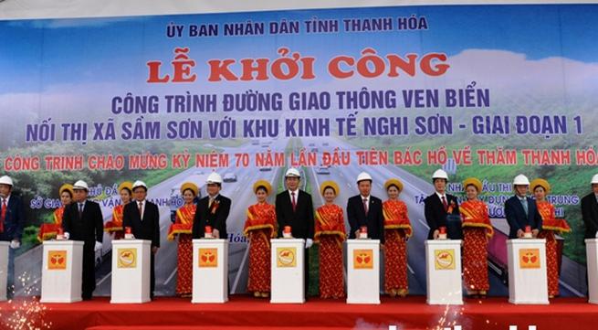 Chủ tịch nước dự Kỷ niệm 70 năm ngày Bác Hồ về thăm Thanh Hóa: Khởi công dự án đường ven biển gần 1.500 tỷ đồng