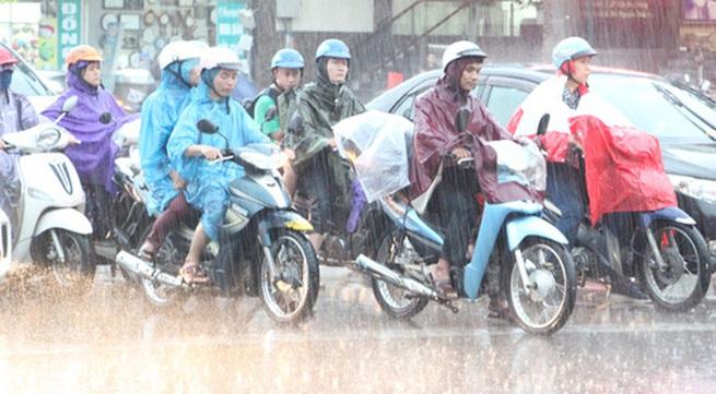 Miền Bắc mưa lớn trong 3 ngày, Hà Nội có thể xuất hiện giông và gió giật mạnh