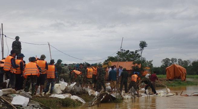Thanh Hóa: Thủng ngầm đê hữu sông Cầu Chày
