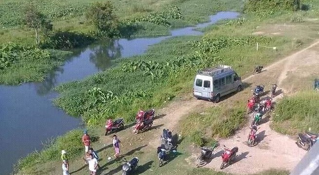 Thanh niên đi bắt cá bị điện giật văng xuống sông mất tích