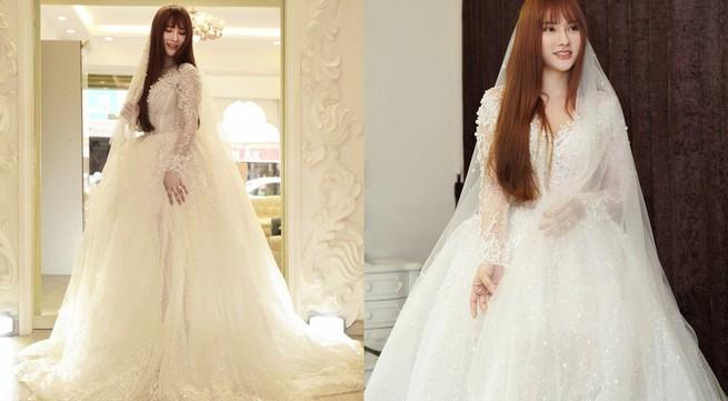 """Thu Thủy thử váy cưới che chắn vòng 2 giữa nghi án cưới """"chạy bầu"""""""