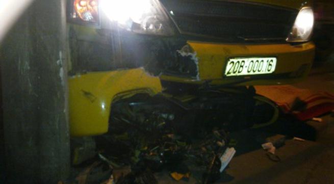 Quảng Ninh: Xe máy đấu đầu ô tô, 2 thanh niên thiệt mạng