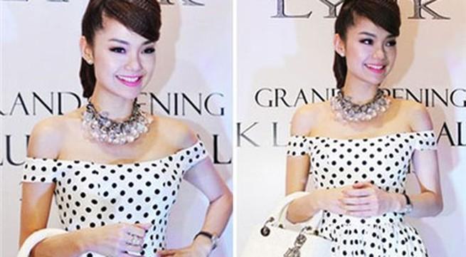 Ngắm phong cách thời trang ngọt ngào của Minh Hằng