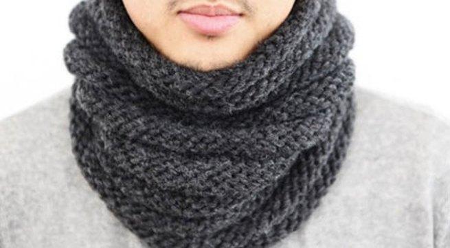 Hướng dẫn đan khăn ống cho chàng diện mùa đông
