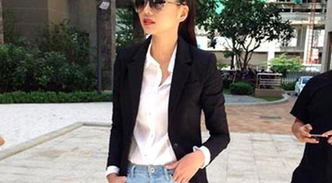 Thanh Hằng mặc jeans sành điệu