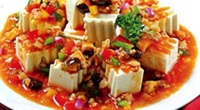 Món ăn hàng ngày: Đậu hũ non sốt chua cay