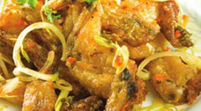 Thực đơn bữa tối: Đùi ếch xào xả ớt