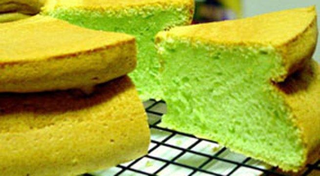 Học làm bánh: Bánh bông lan lá dứa