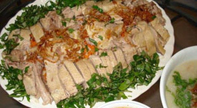 Thực đơn bữa trưa: Thịt vịt luộc