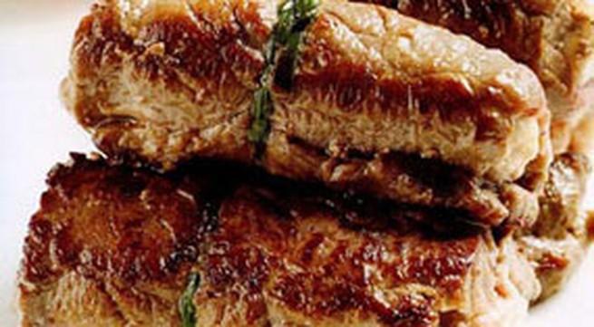 Món ngon cuối tuần: Bò cuộn phô mai