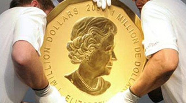 Đồng xu nặng 100kg làm từ vàng ròng