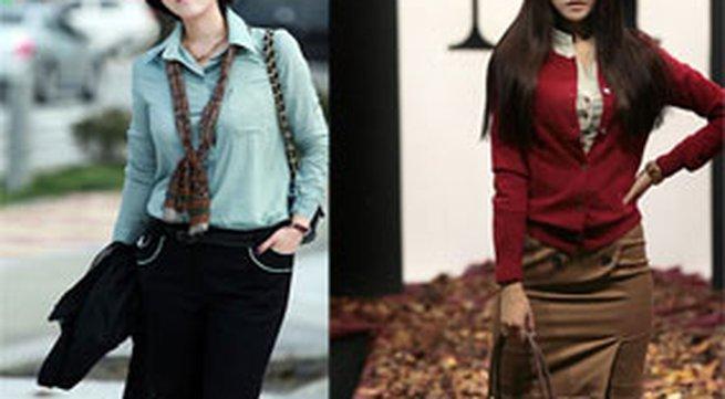 Sơmi, áo vest, váy cho mùa thu