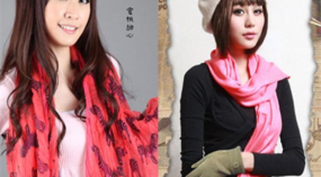 4 kiểu khăn 'mốt' năm 2010