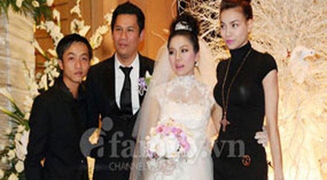 Hà Hồ - Cường Đôla sánh vai dự đám cưới Lệ Quyên