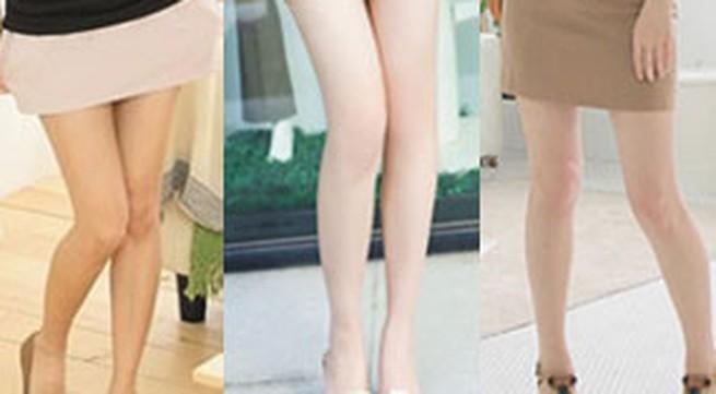 Khoe chân nuột với mini jupe
