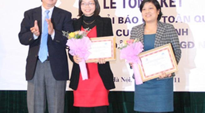 Giải Báo chí toàn quốc về công tác DS-KHHGĐ 2011: Báo GĐ&XH nhận giải Đặc biệt