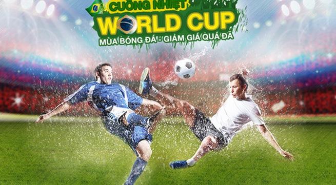Sôi động World Cup 2014 cùng ngàn voucher tại Lazada