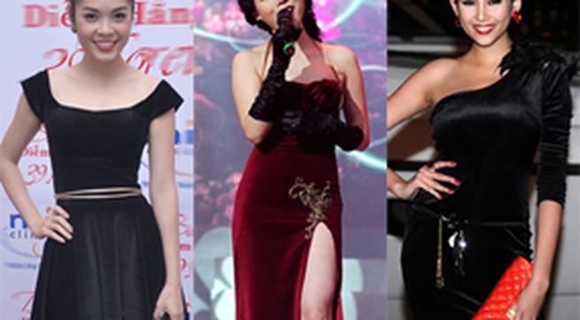Khoe sắc, kiều nữ Việt chọn váy nhung