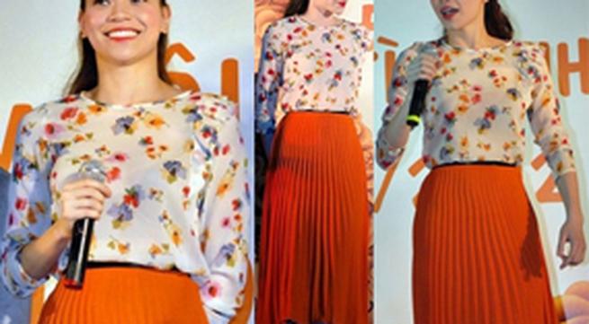 Sao Việt che chân xấu nhờ váy midi