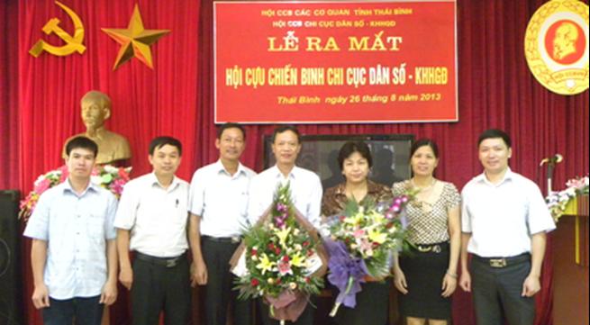 Thái Bình ra mắt Hội Cựu chiến binh Chi cục DS - KHHGĐ