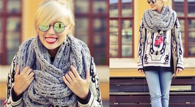 7 mẫu khăn xiêu lòng phái đẹp ngày đông