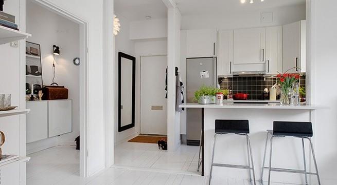Ghé căn hộ 41m² trắng sáng mà không đơn điệu