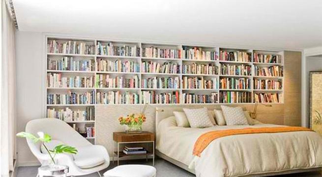 Kết quả hình ảnh cho tủ sách phòng ngủ