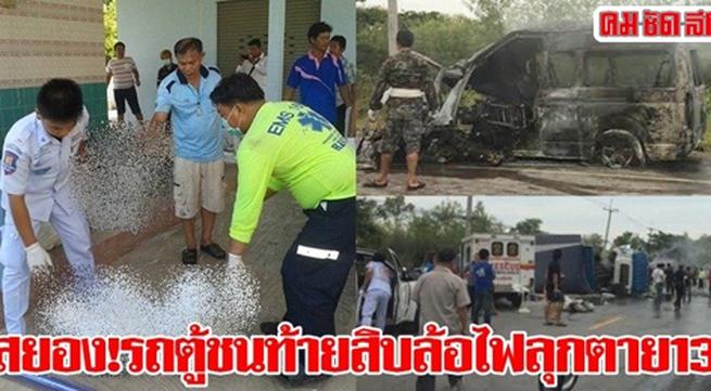 Tai nạn ô tô ở Thái Lan, 12 người Việt thiệt mạng