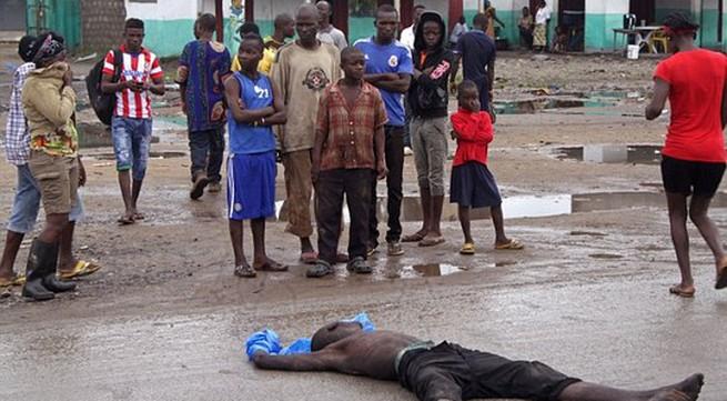 Rùng rợn chứng kiến thi thể nạn nhân Ebola bị chó hoang ăn thịt