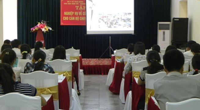 Thái Bình: Tập huấn nghiệp vụ dân số cho cán bộ chuyên trách cơ sở